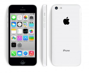 The iPhone5c in white