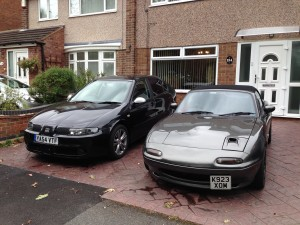Leona (Seat Leon) and Maggy (MX-5)