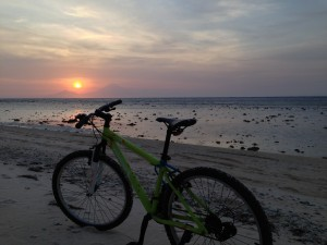 Bike hire on Gili T, Bali