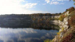 Old stone quarry/nature reserve in Krakow