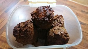 Tasty and health chocolate & ginger protein muffins